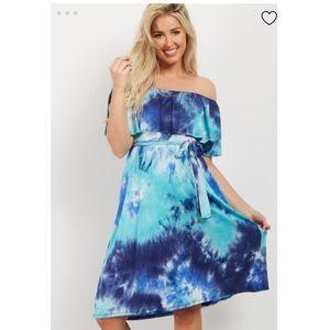 NWT Pinkblush Tie Dye Off The Shoulder Dress
